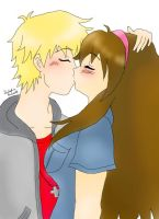 Aden and Yuna kiss (request) by AliceCat33