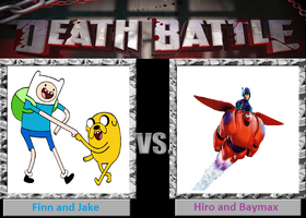 Death Battle: Finn and Jake Vs. Hiro and Baymax by goldsilverbronzekid