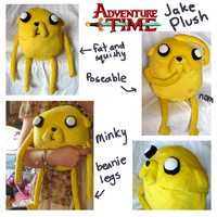Jake the Dog plush by SilkenCat