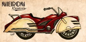Neron Cruiser - retro motorbike by Pickador