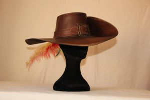 Leather musketeer hat by HamraBDG