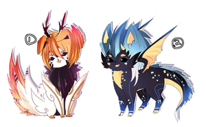 Dragon Pups Adopt Auction CLOSED by Tiffany-Tees