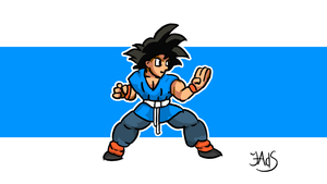 Goku - Blue by Luned13