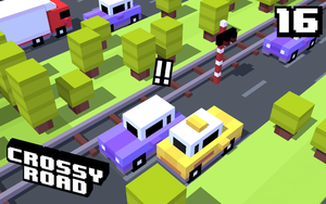 First time playing crossy road by Cartoonstuffer