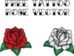 FREE TATTOO ROSE VECTOR by Supernus