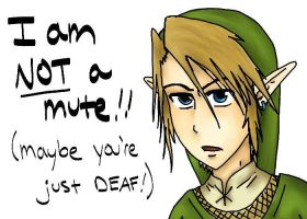 Link is a Mute by jessieC92