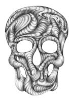 Skull, Pencil by Adrianna-Grezak