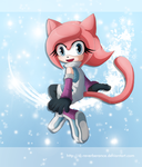 Melody the Cat - trade with destinal by Dj-Reverberance