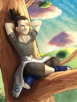 Shikamaru: The best view by Pinkuh