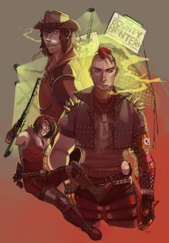 Commission: BOUNTY HUNTERs by Vhu