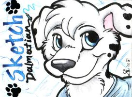 Badge - Sketch Dalmatian by foxyfennec