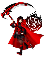 [RWBY] Red like Roses by JellieBellie