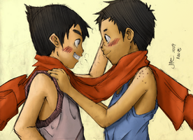 Scarf by Junpei by kyujinueno