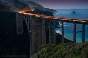 The Bixby Bridge by Moonlight by MattGranzPhotography