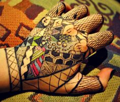 Colourful Glove by chainofthorns