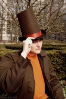 Professor Layton costume by zhobot