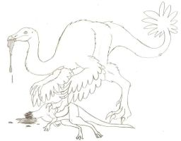 Omnivorous Ornithomimus by DaBrandonSphere