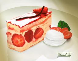 Strawberry Cake by hinoraito