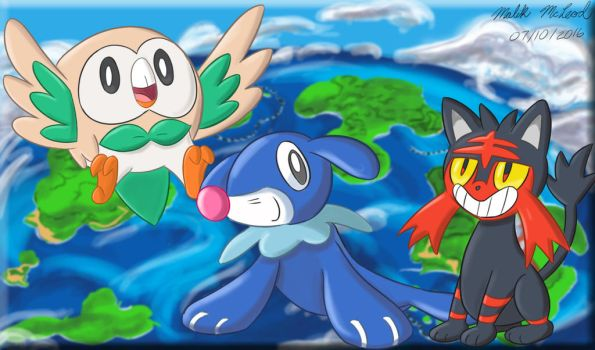 The Alola Starters by ImmaComicGenius