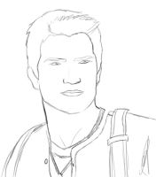 Nathan Drake quick sketch by AnnieCroft