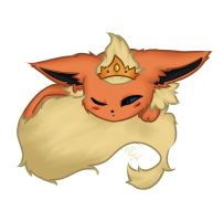 Flareon - Digicoloured by SweetCatMint