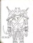 TMNT OC: Oliver (uncolored) by SpiderDetentionaire