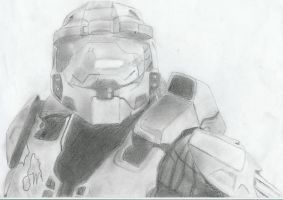 Master Chief by DeathlyWhiteRoses
