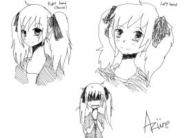 Right hand and Left hand drawings by Ruzuri