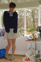 Re-conned Sweater by Teapartyforgirls