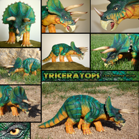 Triceratops sculpt by DragonosX