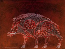 celtic desktop boar by AvocadoArt