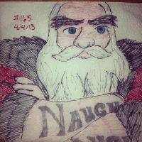 Napkin Art 165 - Nicholas - Rise of the Guardians by PeterParkerPA
