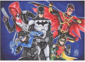 Bat-Family Redesign by GabRed-Hat
