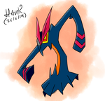 My first digital drawing, Senketsu by GaboHank