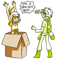 CAC: DICK IN A BOX by zerolicious