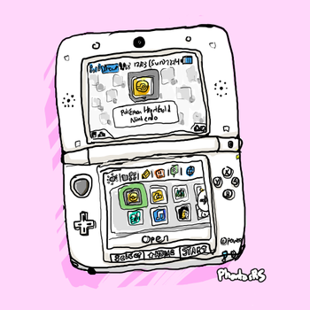 PINK 3DS XL by PhantasmagoricRS