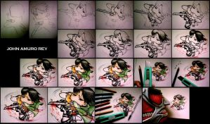 how to draw chibi captain levi by JohnAmuroRey