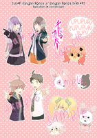comifuro - sdr2/dr stickers by romuram