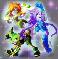 Freedom Planet girls by WhitePhox