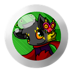 Oni Fan Button by Mixie-Maistir