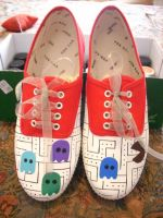 Shoes - Pacman by invictas-shoes