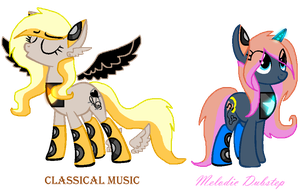 Music themed Speaker Ponies Adopts (CLOSED!) by Marshmellow-Girl