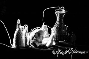 Light Painting Black and White by michaelgoldthriteart