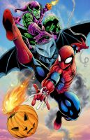 Spidey and Goblin by WiL-Woods