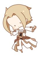 Sepia soldier - simple chibi by c-r-f