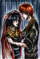 Pein and Konan. Rain by Fukari