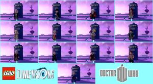 Lego Dimensions: Doctor Who Doctors by Xelku9