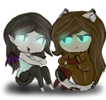 chibis with tranparent background by DracoScurra