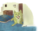 Shotglass 'Oh, You're Home?' by XDeadDog