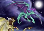 We fly in the night. by Skaylina